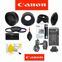 Canon Eos Rebel 7d Mark Ii Telephoto Lens + Wide Angle Lens + Lp-e6 +hd Filters