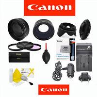 Canon Eos Rebel 7d Mark Ii Telephoto Lens + Wide Angle Lens + Lp-e6 +hd Filters