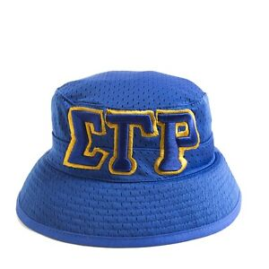 c0b35431548 Sigma Gamma Rho Sorority Three Greek Letters Floppy Mesh Bucket Hat ...