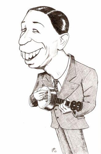 George Formby on the Banjolele Greeting Card