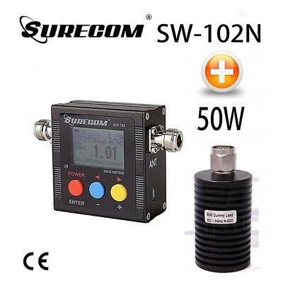 METER 50W DUMMY LOAD SKU:124376 SURECOM SW-102N V.S.W.R