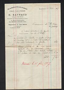 """BEAURENARD par MENETOU-COUTURE(18) MARECHALERIE FORGE """"H. RAYNAUD"""" en 1927 - France - État : Occasion : Objet ayant été utilisé. Consulter la description du vendeur pour avoir plus de détails sur les éventuelles imperfections. Commentaires du vendeur : """"CORRECT"""" - France"""