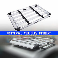 """Universal Car Roof Cargo Carrier Luggage Basket Roof Rack Top 51""""x 37"""" Crossbars"""