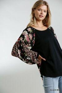 Umgee-Floral-Animal-Print-Long-Sleeve-Top