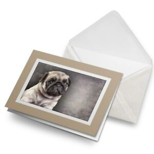Greetings-Card-Biege-Pug-Puppy-DogDrawing-15650