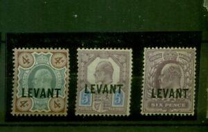 Regno Unito, impresso Levant su re Georg V. N. 19 - 21