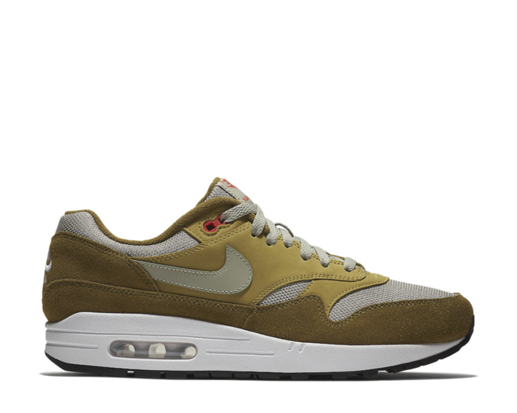 Men's Nike Air Max 1 Premium Retro  Green Curry  Athletic Fashion 908366 300