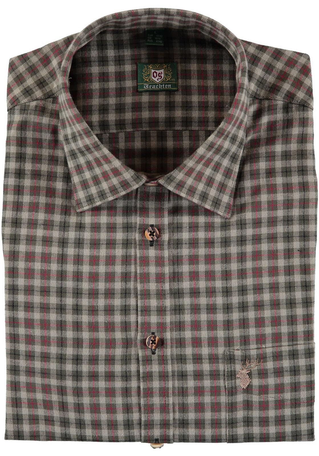 Orbis os Trachten camisa 3631 55 caballeros caza camisa  wanderhemd Karo camisa manga larga  envío rápido en todo el mundo