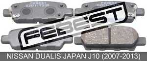 Pad-Kit-Disc-Brake-Rear-For-Nissan-Dualis-Japan-J10-2007-2013
