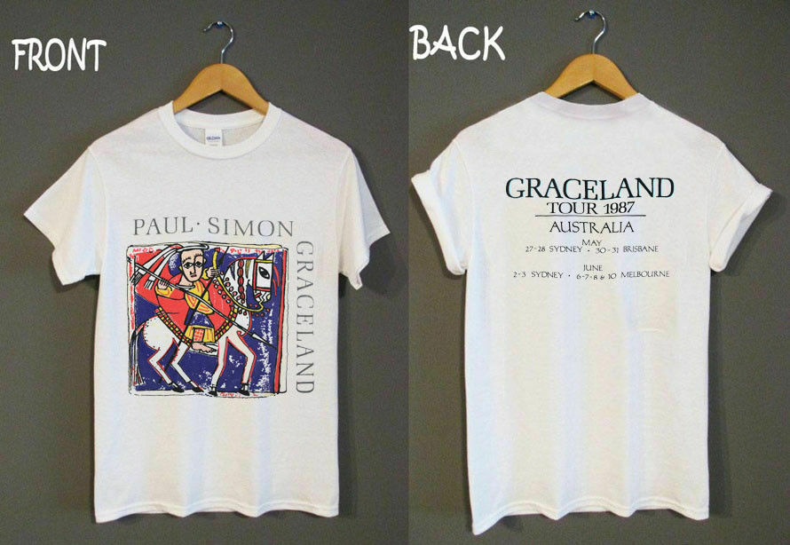 Paul Simon T Shirt 1987 Graceland Concert Australia Gildan