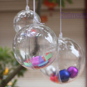 Clear-Plastic-Fillable-Ball-Cicle-Hang-Ornaments-Favor-Candy-Sphere-Sets-Crafts