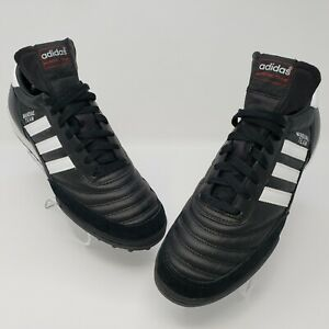 Adidas-Mens-Mundial-Team-Turf-Soccer-Shoes-Black-White-Male-Size-US-9-5-UK-9