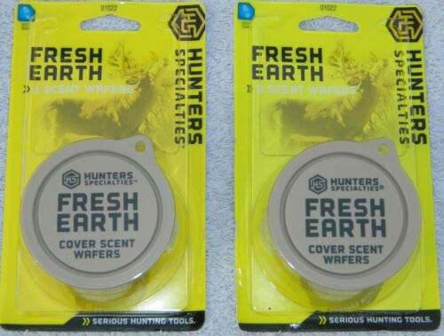 3 Each 2x Hunters Specialties Fresh Earth Cover Scent Wafers Free Shipping