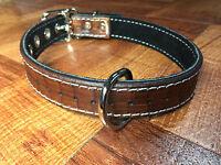 Custom Made Leather Dog Collar Weave Pattern
