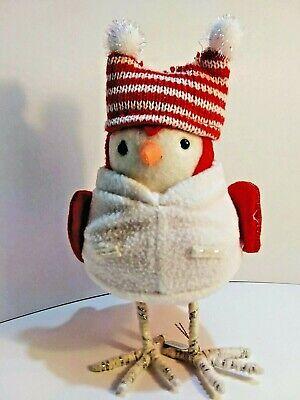 Target 2020 Featherly Friends Christmas Klaus Santa Felt Bird Figurine