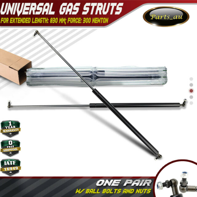 2x Gas Struts for Trailer Box Caravans Camper Canopy 830MM Long 300 Newtons