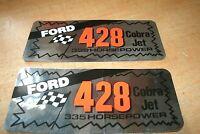 Ford 428cj 428 Cobra Jet 335 Horsepower Valve Cover Decals Shelby Mustang Fairla