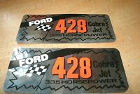 Ford 428cj 428 Cobra Jet 335 Horsepower Valve Cover Decals Shelby Mustang Fairla