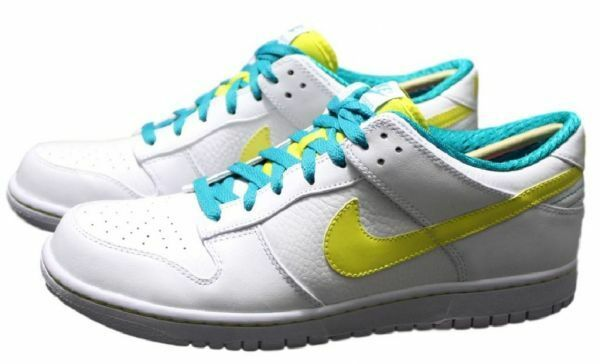 NIKE Dunk LOW Lo Flach Premium Sneaker Leather Neu Gr:38,5 White/Yellow Force