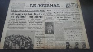 Newspapers The Journal N°17355 Friday 26 April 1940 ABE