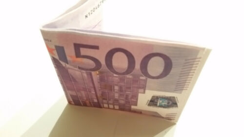 New 500 EURO bi-fold wallet BeNjY Wallet Canvas strong and thin US Seller