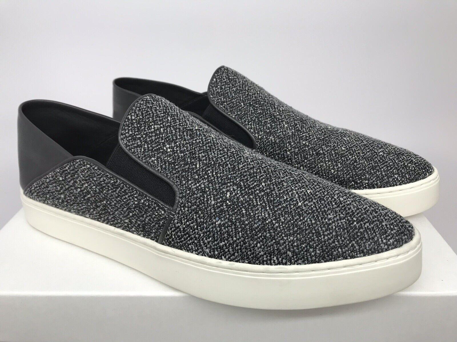VINCE. Womens Garvey Tweed Slip On Sneaker Size 10 M Grey