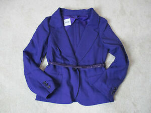 NEW-Love-Moschino-Blazer-Jacket-Womens-Medium-Size-8-Purple-Bel-Ladies-775