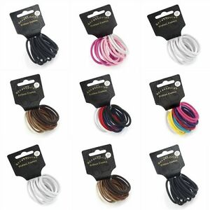 12-Pack-Coloured-Snag-Free-Endless-Hair-Elastics-Bobbles-Hair-Bands-Accessories