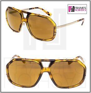 Details about DOLCE & GABBANA GRIFFE Camo Havana Gold Copper Mirror DG2167 Sunglasses 2167