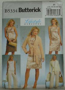BUTTERICK 5419 Sewing Pattern LIFESTYLE WARDROBE 16 18 20 22 24 UNCUT