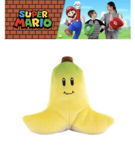 "Super Mario Kart Mocchi Mocchi Banana Keychain Belt Clip Plush Stuffed TOMY 4"""