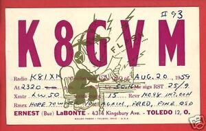 HAM-RADIO-OPERATOR-LABONTE-TOLEDO-OH-1959-POSTCARD
