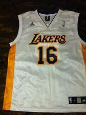 Collectible Los Angeles Lakers Pau Gasol #16 Adidas Jersey Men L White