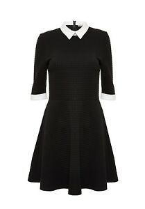 31836503fae1e Alice + Olivia Textured Combo Shirt Dress Black White Size 0 NWOT | eBay