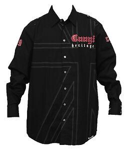 Authenctic C70c81als abotonada negro para hombre color Camisa Xl de Coogi talla ABH4Fq