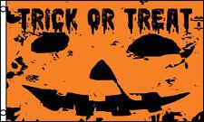 """TRICK OR TREAT"" flag 3x5 ft poly halloween pumpkin"