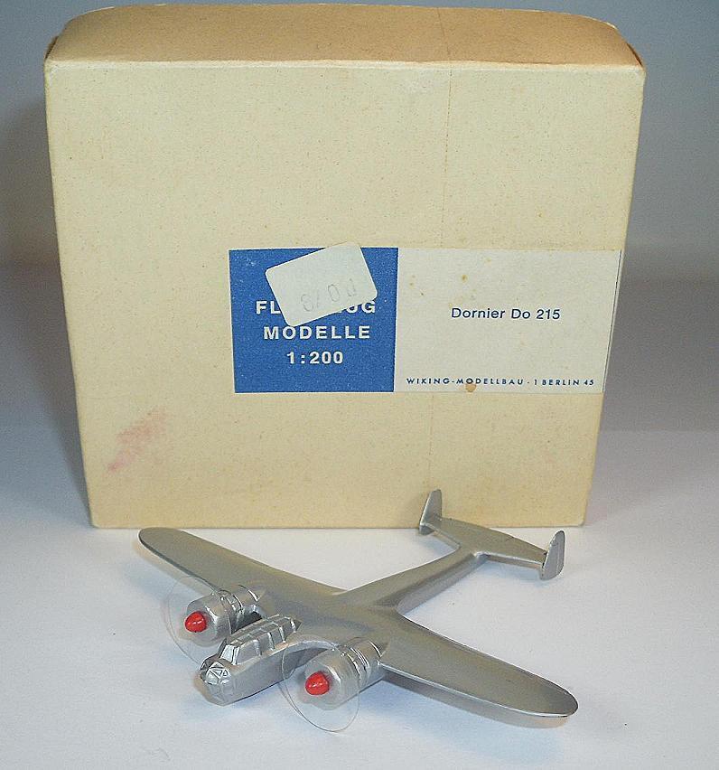 Wiking Avion 1 200 DORNIER DO 215 argentés 60er Ans neuf dans sa boîte  348