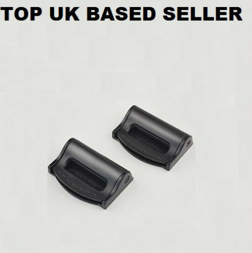 AUSTIN Car SAFETY Seat BELT Stopper UNIVERSAL BUCKLE Adjustable 2 Black Clips
