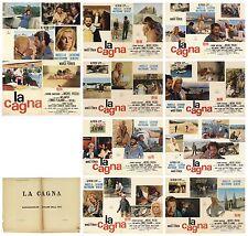 LA CAGNA SET FOTOBUSTE USATE 8+SOGG. FERRARI MASTROIANNI DENEUVE 1972 LOBBY CARD