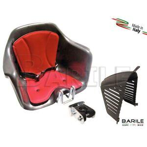 Seggiolino-Anteriore-Bici-Attacco-Manubrio-Nero-Rosso-Protezione-HTP-MILU-039