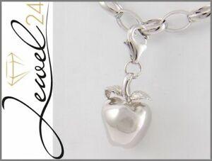 Damen-Charm-Anhaenger-echt-Silber-925-Sterlingsilber-Apfel-Einhaenger-massiv