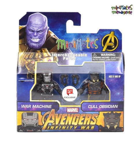 Marvel Minimates Walgreens Infinity Film de guerre Wave 2 machine de guerre /& de réforme Obsidienne