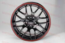 """19"""" BLACK WITH RED LIP M3 CSL STYLE RIMS WHEELS FITS BMW 3 SERIES 335 328 E90 M"""