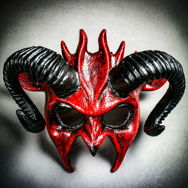 Animal Devil Demon Masquerade Ball Mask Costume Halloween Haunted House Party