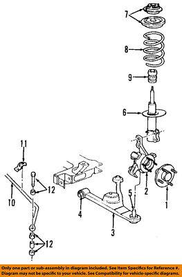 dodge chrysler oem 02-05 neon front suspension-strut 4656174ae   ebay dodge neon suspension diagram 12 point roll cage ebay