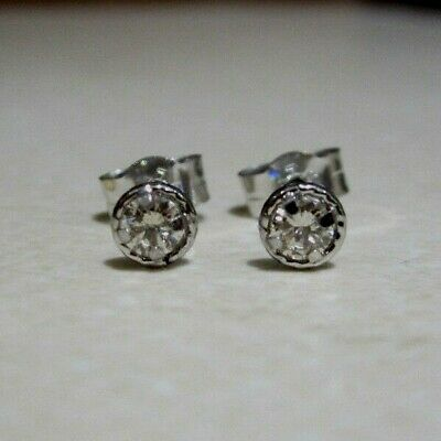 Brand New Halo 1//4CT Diamond 9ct White Gold Stud Earrings £125 Freepost