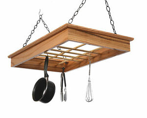 Image Is Loading Pot Rack In Solid Red Oak Hprro Laurel