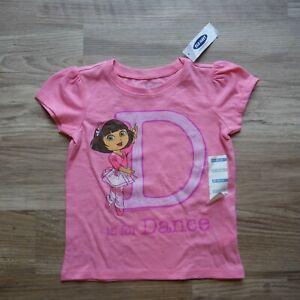 Old-Navy-pink-Dora-Tee-shirt-size-18-24-months-Girls-D-is-For-Dance-ballet-new