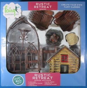 Details about Arcadia Garden Products Rustic Retreat Series Fairy Garden