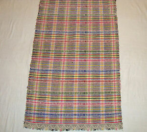 Vintage Old Ethnic Beautiful Hand - woven decorative apron or cloth
